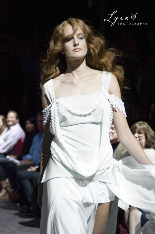 Justin LeBlanc show white dress