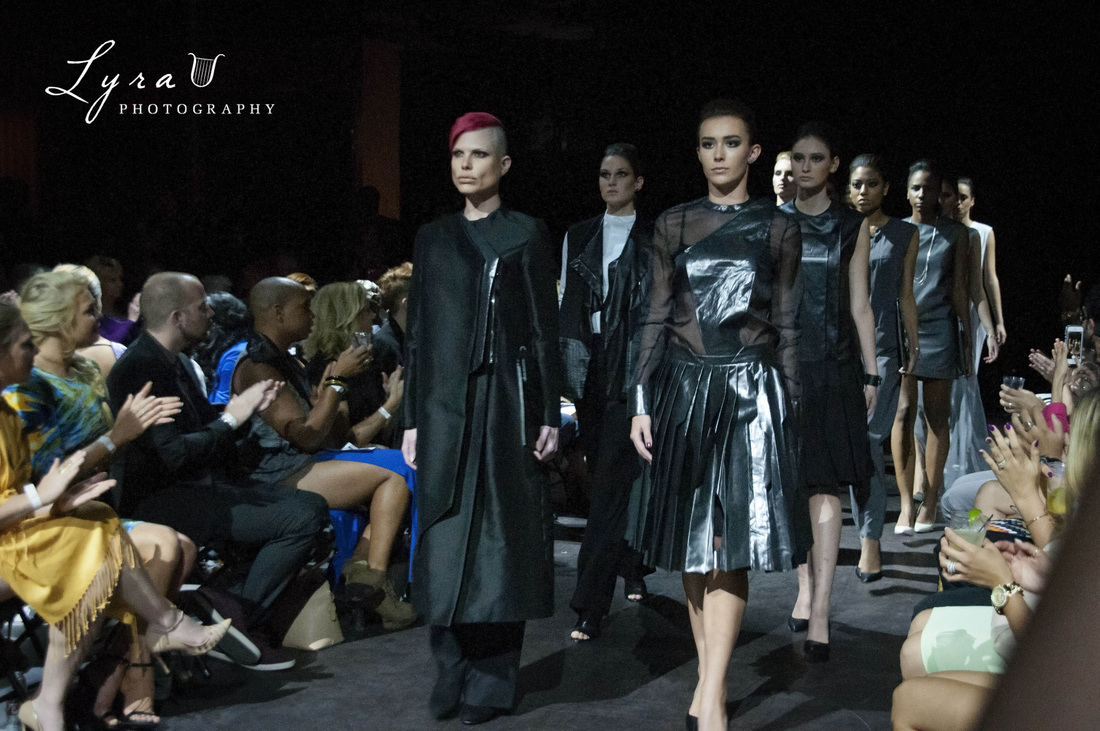 Joseph Singh show models walk out